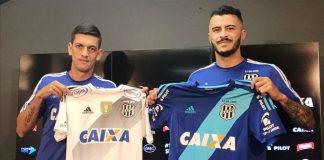 Fernandinho (à esquerda) substitui João Lucas (à direita) na lateral esquerda